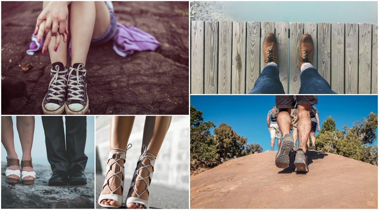 collage calzado adecuado