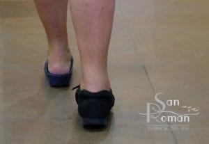 vista pies con protección después operación