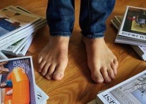 uñas en los pies