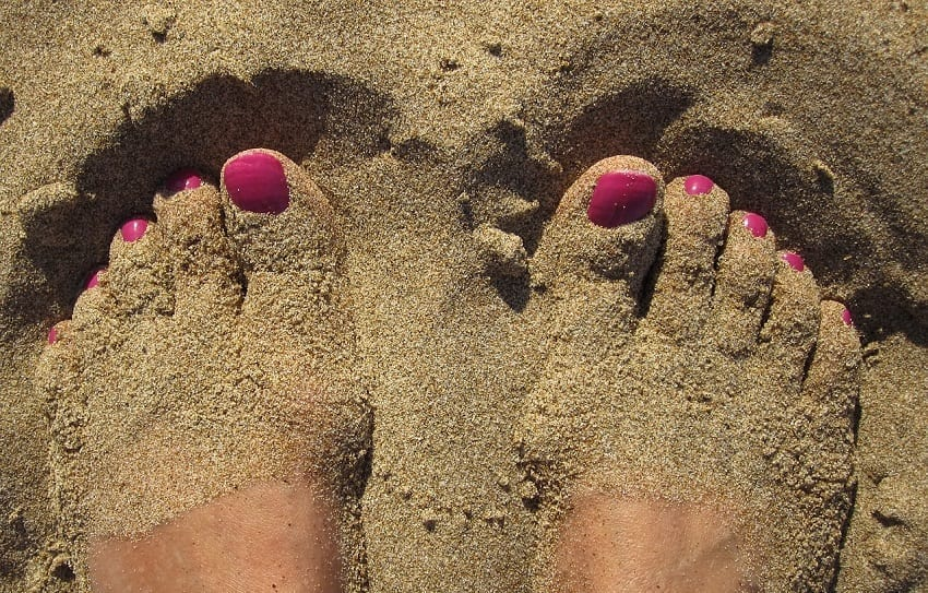 pies en verano